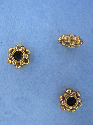 Big and Small Dotted Bead -  Gold Plt. - Base Metal