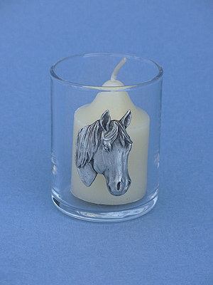 Horse Head Votive Holder - Lead Free Pewter