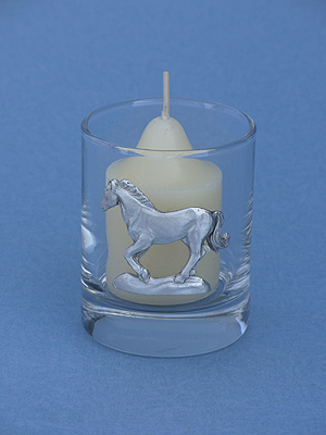 Running Horse Votive Holder - Lead Free Pewter