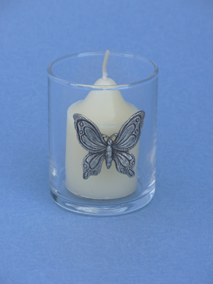 Butterfly Votive - Lead Free Pewter