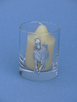 Galloping Horse Votive Holder - Lead Free Pewter
