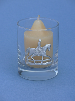 Dressage Votive Holder - Lead Free Pewter