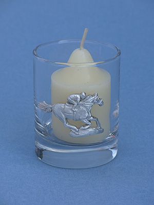 Jockey Votive Holder - Lead Free Pewter