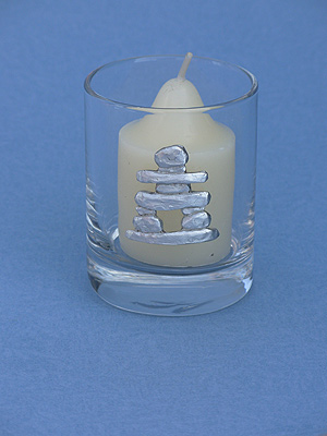 Inukshuk Votive Holder - Lead Free Pewter
