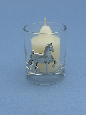 American Saddlebred Votive Holder - Lead Free Pewter