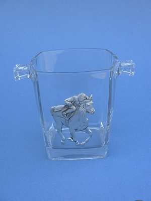 Jockey Ice Bucket - Lead Free Pewter