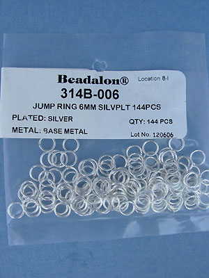 6mm Silver Plated Jump Rings - Gross - 144 pcs.
