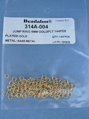 4mm Gold Plated Jump Rings - Gross - 144 pcs.