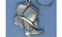 Cowboy Boots Keychain - Lead Free Pewter