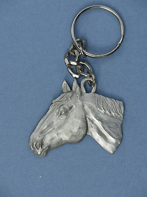 Horse Head Keychain - Lead Free Pewter