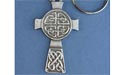 Protection Cross Keychain - Lead Free Pewter