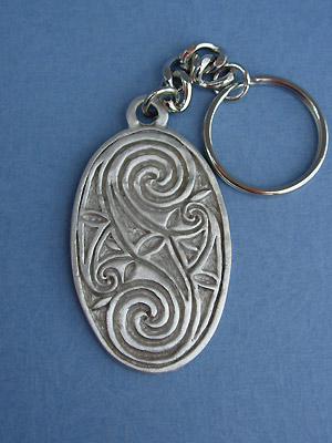 Friendship Oval Keychain -  Lead Free Pewter