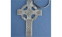 Celtic High Cross Keychain - Lead Free Pewter