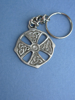 Ardagh Chalice Cross Keychain - Lead Free Pewter