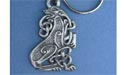 Celtic Dog Keychain - Lead Free Pewter
