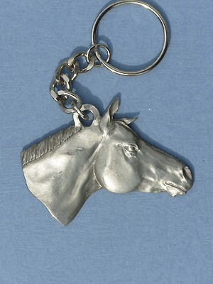 Quarter horse Keychain - Lead Free Pewter