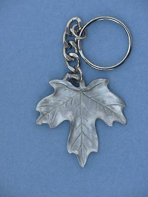 Maple Leaf Keychain - Lead Free Pewter