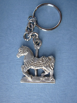 Carousel Keychain - Lead Free Pewter