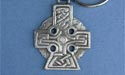 Cross of Strength Keychain - Lead Free Pewter