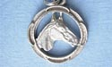 Horse - Round Keychain - Lead Free Pewter