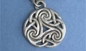 Spiral of Infinity Keychain - Lead Free Pewter