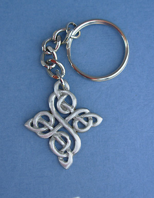 Happiness Knot Keychain - Lead Free Pewter