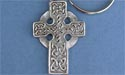 Highland Cross Keychain - Lead Free Pewter