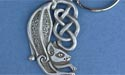 Celtic Cat Keychain -Lead Free Pewter