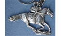 Single Jockey Keychain - Lead Free Pewter