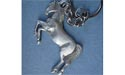 Rearing Horse Keychain - Lead Free Pewter