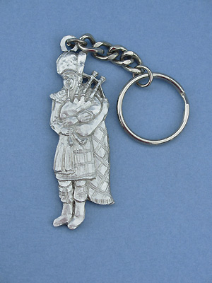 Piper Keychain - Lead Free Pewter