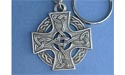 Celtic Knotwork Cross Keychain - Lead Free Pewter