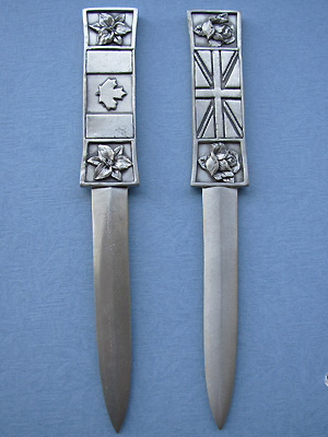 British /Canadian Letter Opener - Lead Free Pewter