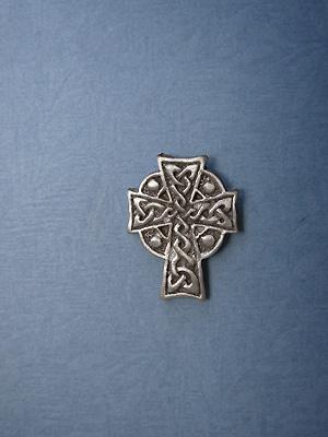 Meditation Cross Lapel Pin - Lead Free Pewter