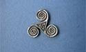 Triskele Lapel Pin - Lead Free Pewter