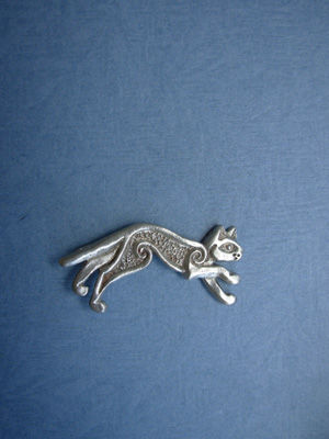 Celtic Cat Lapel Pin - Lead Free Pewter