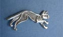 Celtic Cat Lapel Pin - Lead Free Pewter