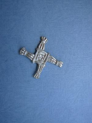 Saint Brigid's Cross Lapel Pin - Lead Free Pewter