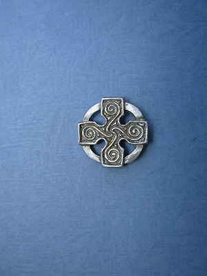 Cross of Four Seasons Lapel Pin - Lead Free Pewter