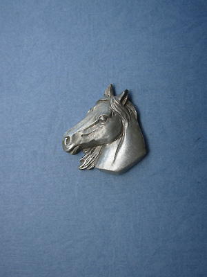 Horse Head Lapel Pin - Lead Free Pewter