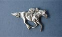Jockey Lapel Pin - Lead Free Pewter
