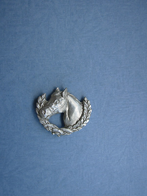 Horse /Wreath Lapel Pin - Lead Free Pewter