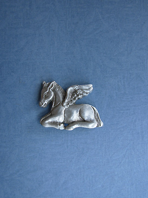 Angel Colt Lapel Pin - Lead Free Pewter