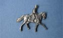 Dressage Lapel Pin - Lead Free Pewter