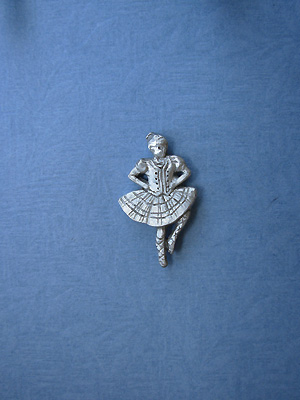 Highland Dancer Lapel Pin - Lead Free Pewter
