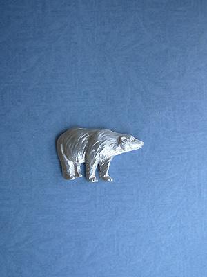Standing Polar Bear Lapel Pin - Lead Free Pewter
