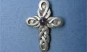 Double Celtic Cross Lapel Pin - Lead Free Pewter