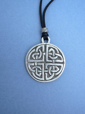 Protection Knot Lead Free Pewter Large Pendants c/w Cord