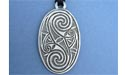 Friendship Oval Lead Free Pewter Large Pendants c/w Cord