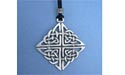 Rosemarkie Knot Lead Free Pewter Large Pendants c/w Cord